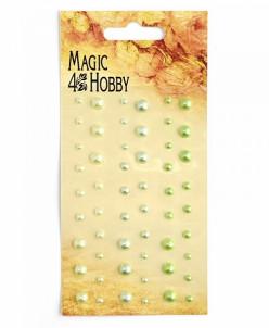 Полужемчужины клеевые Magic Hobby арт.MG PE 114 уп.54 шт