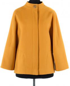 01-4282 Пальто женское демисезонное Кашемир Янтарь