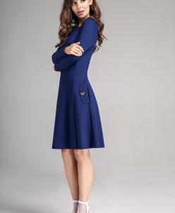 Р1170 платье  Цвет: синий