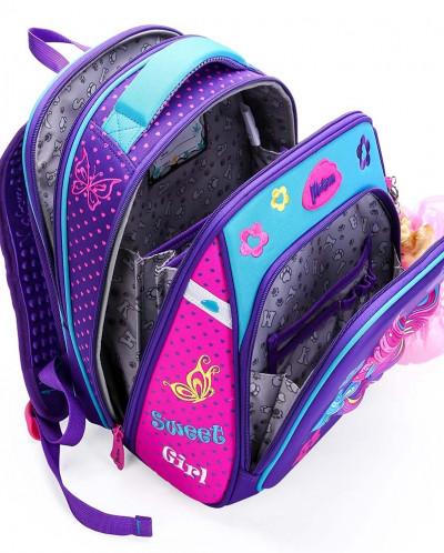 Ранец каркасный для девочки мешок + брелок Maksimm
