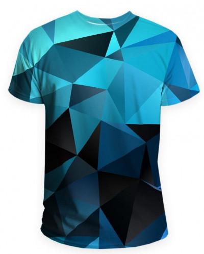 Футболка мужская Синяя абстракция