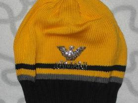 Новая шапка ручной работы с принтом, ОГ 48-50 см