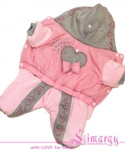 Комбинезон 'Knitting' розовый