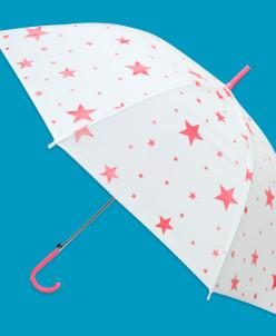 "Зонт ""Звездочки"" 53 см, прозр., матов."