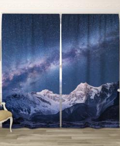 Фотошторы Звёздное небо в горах 145*240