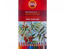 Набор акварельных карандашей Mondeluz, 12 цв