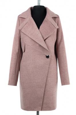 01-8160 Пальто женское демисезонное Микроворса/Рубчик Бордов