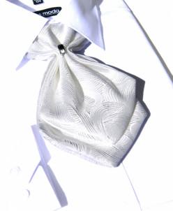 ГАЛСТУК-ЖАБО+платок белый