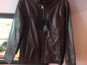 мужская куртка кожаная новая, размер ХL