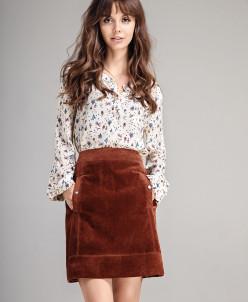 Р1159 юбка  Цвет: коричневый