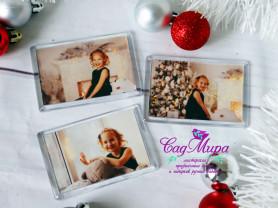Новогодние магниты с фото.