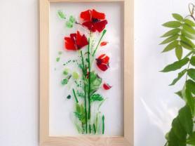 Картина из стекла Маки