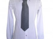 Школьная рубашка с галстуком для девочки