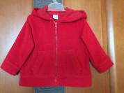 Красная кофта с капюшоном Freestyle 12-18M