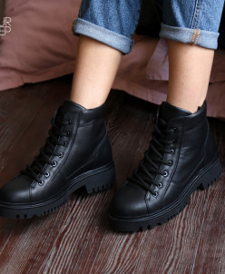 "Кожаные ""грубые"" ботинки. New collection 19/20"