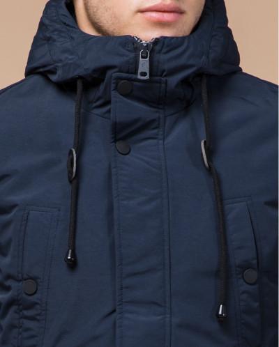 Комфортная синяя парка зимняя с карманами модель 36640-1