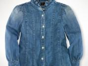 Ralph Lauren отпадная джинсовая рубашка 6лет.