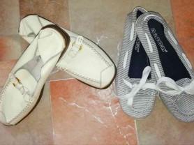 Две пары обуви (макасины) р. 36 отдам кучкой