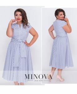 Платье №490-Синий