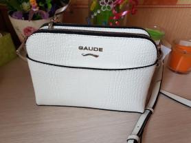 Новая кожаная лакированная сумка белая Италия
