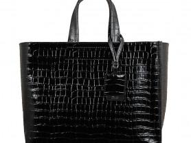Новая большая лакированная сумка кожа Италия