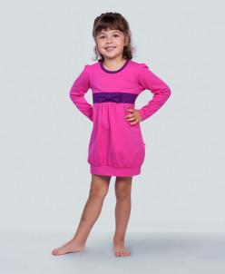 платье с бантиком розовое
