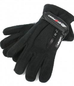 Детские флисовые перчатки на утяжке (минус 30)