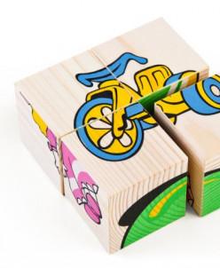 Кубики из 4 деталей Игрушки (Томик)