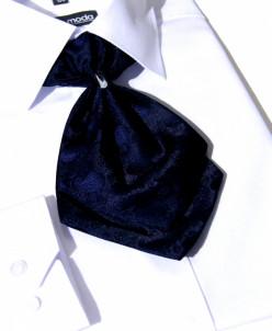 ГАЛСТУК-ЖАБО+платок синий темный
