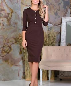Платье Николь цвет коричневый (П-104-4)