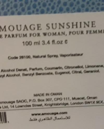 AMOUAGE Woman Sunshine EDP