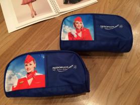 Новые синие косметички Аэрофлот бизнес-класс