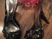 Новые чёрные сабо на каблуках TJ Collection (размер 37)