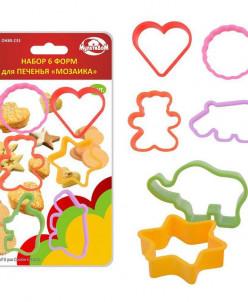 """Набор 6 форм для печенья """"Мозаика"""" 6цв. DH80-233"""