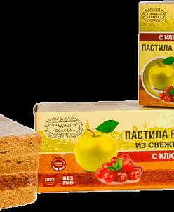 Пастила Белевская «С клюквой» без сахара