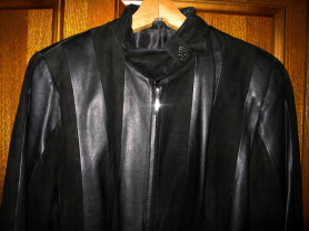 Куртка Emma нат кожи/замш р 52-54 рост 165-168см