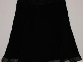 Юбка черная стрейч трикотаж - р.50-52