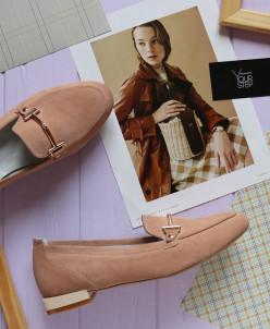 Замшевые туфли лоферы. New collection 19