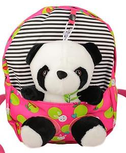 Детский текстильный рюкзак с игрушкой