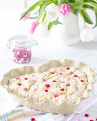 "Форма для пирога, ""Сердце"", цвет: крем"