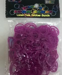 Набор из РЕЗИНОК Rubber Band  200 шт фиолетовый