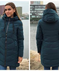 Женская куртка 816-23 темно-бирюзовая