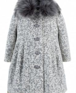 10-0321 Пальто детское утепленное Кашемир Бело-серый