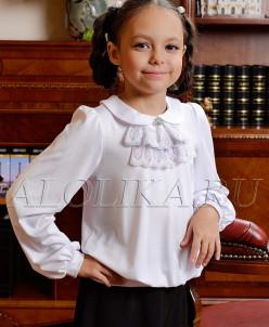 Трикотажная блузка Л*юбава белая