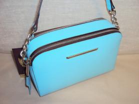 Новая голубая сумочка кроссбоди Gaude из нат. кожи