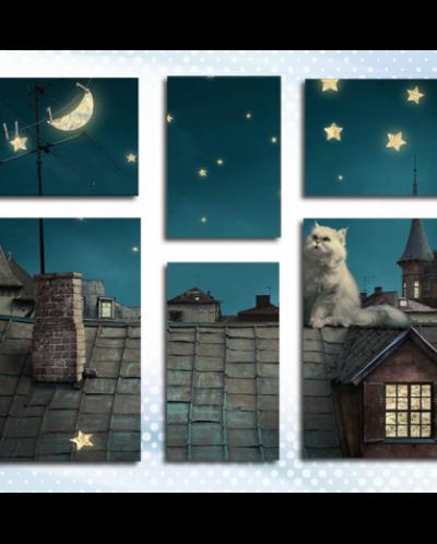 Кот на крыше (90*110)