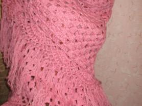 Плетеная женская накидка ручной работы