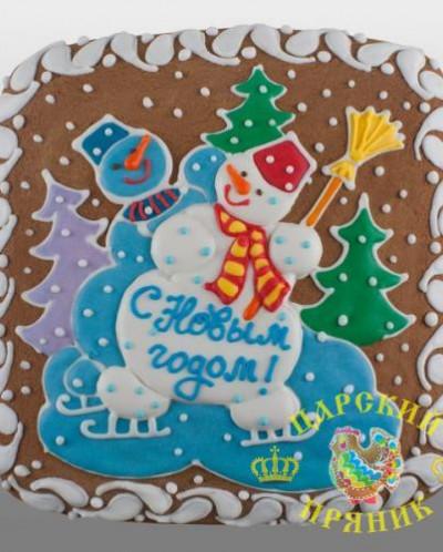700-2 «Пряничная открытка» 200х200 мм «Снеговики»