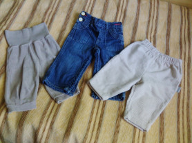 Брючки Kanz, Gap, Ewa collection 6-9-12 m.