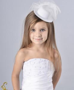 заколка  детская, шляпка